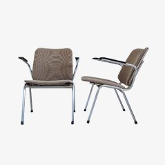Fauteuils Vintage en Chrome, Set de 2