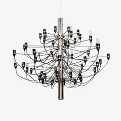 Lámpara de araña 2097 de Gino Sarfatti para Arteluce, 1962