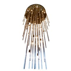Large Crystal Rod Chandelier from Lightolier, 1976