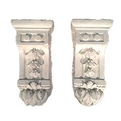 Ornamental Midcentury Plaster Elements, Set of 2