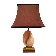 Lámpara francesa Mid-Century con caracola