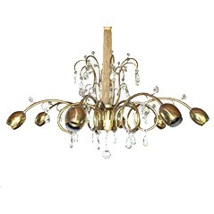Large Austrian Art Deco Chandelier from J&L Lobmeyr