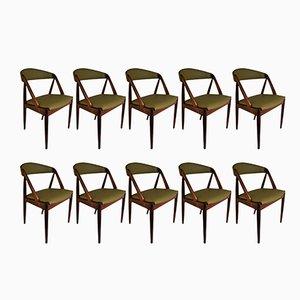 Chaises de Salon Modèle 31 Mid-Century en Palissandre par Kai Kristiansen pour Schou Andersen, Set de 10