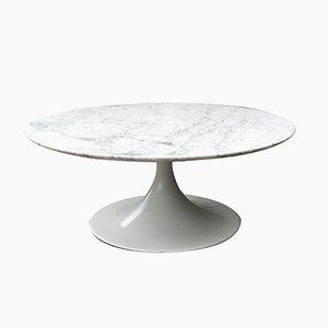 Runder Couchtisch mit Tischplatte aus Marmor von Heinz Lilienthal für Ambivalenz, 1970er