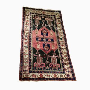 Antique Middle Eastern Handwoven Qashqai Rug