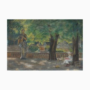 Antique Painter in the Jardin de Luxembourg Painting