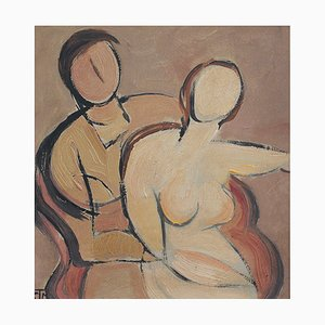 Portrait of Seated Nudes by STM, 1940s
