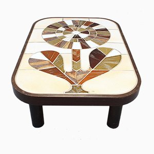 Ceramic Tiled Coffee Table by Roger Capron, 1970s