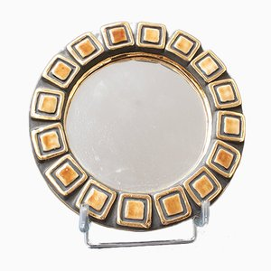 Ceramic Wall Mirror by François Lembo, 1960s