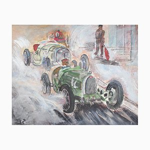 Grand Prix Racer II French School Painting, 1960s