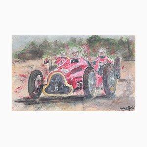 Französische Grand Prix Racer II Schulmalerei, 1960er