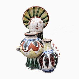 Mid-Century Ceramic Angel With Amphorae, 1950s
