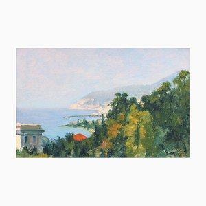 Ansicht von San Remo Gemälde von Angelo Mucci, 1937