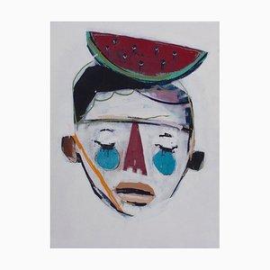 Boy With Watermelon Painting by Rodrigo Branco, 2014