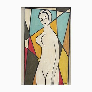 Standing Nude Painting by Edgar Stoëbel, 1960s