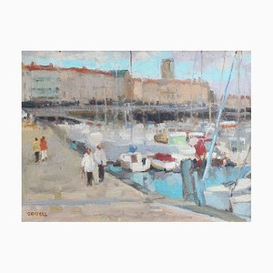 Vintage Portside Painting by Susan Grisell