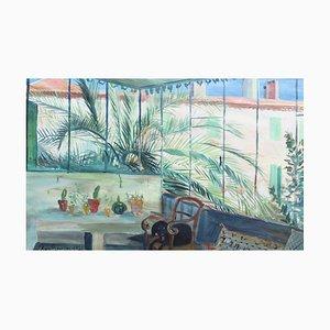 The Sun Terrace Painting by Marcel Bouissou, 1946