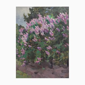 Lilacs in Springtime Painting, 1960s