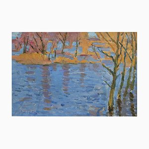 Autumnal Lake Painting, 1960s