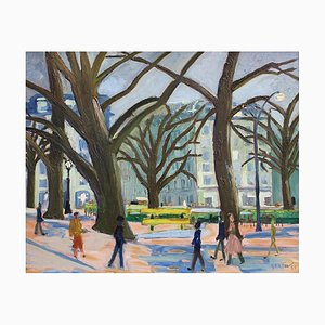 Roundabout on the Champs-Élysées Painting by Roger Bertin, 1957