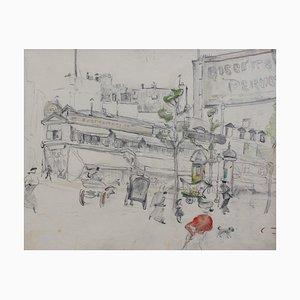 Dessins au Crayon, France, 1900s, Set de 2