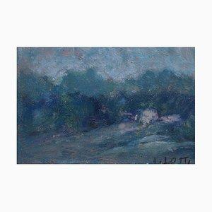 Italian Landscape Oil Painting by A. Lotti, 1930s