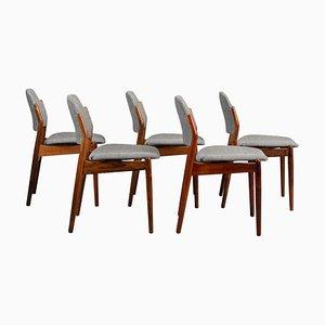 Palisander No. 62 Esszimmerstühle von Arne Vodder für Sibast, 1950er, 5er Set