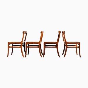 Mid-Century Palisander Esszimmerstühle von Ole Wanscher für PJ Denmark, 1960er, 4er Set