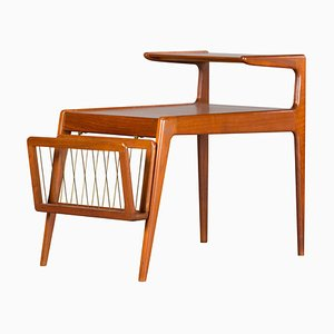 Mid-Century Teak Side Table with Magazine Rack by Kurt Østervig for Jason Møbler, 1960s