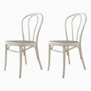 Esszimmerstühle aus Bugholz & Schilfrohr von Stol Kamnik, 1970er, 2er Set