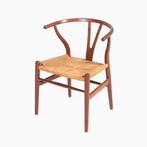 Patinierte Eichenholz Wishbone Stühle von Hans J. Wegner für Carl Hansen & Søn, 1950er, 6er Set