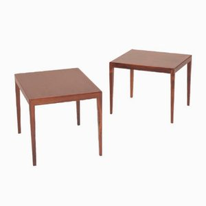 Danish Rosewood Side Tables, 1960s, Set of 2