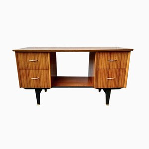 Mid-Century Wooden Desk with Drawers