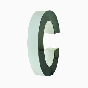 Methacrylic Black & White Letter C, 1970s