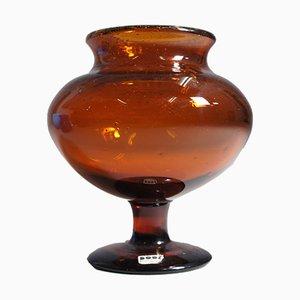 Mid-Century Glasschale von Erik Höglund für Kosta