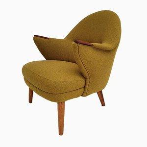 Mid-Century Danish Wool & Teak Armchair, 1960s
