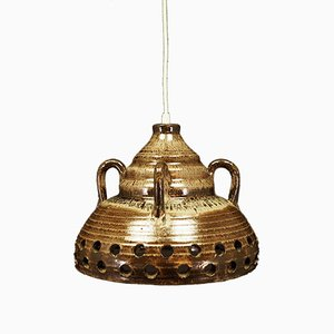 Vintage Keramik Deckenlampe von E. Glud's Stentøj