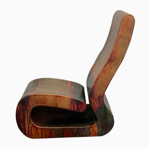 Italian Fiberglass & Copper Lounge Chair by Ravi Sing for Marco Polo Italia, 1990s