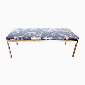 Resin & Marble Coffee Table, 1970s