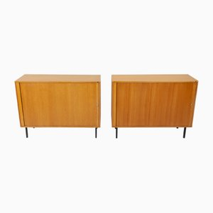 Tambour Oak Cabinets by Marius Byrialsen for Nipu, 1964, Set of 2