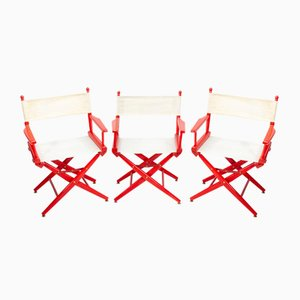 Directors Folding Chairs, 1964, Set of 3