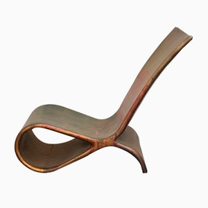 Fiberglass & Copper Chaise Lounge by Ravi Sing for Lightworks Resorce, 1990s