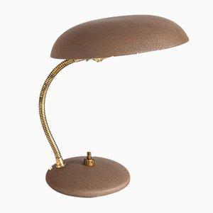 Französische Lackierte Mid-Century Metall Tischlampe, 1950er