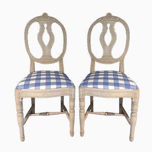 Gustavianische Esszimmerstühle, 4er Set