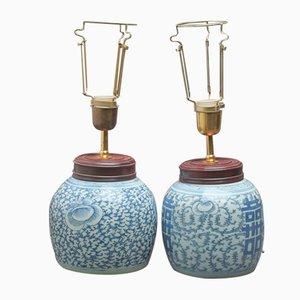 Antique Oil Lamps, Set of 2