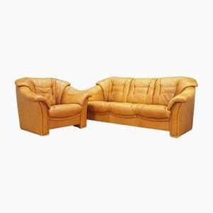 Dänisches Vintage Sofa und Sessel Set von Skalma Møbelfabrik, 1970er