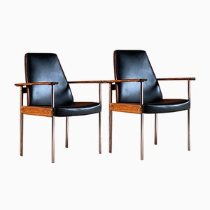 Mid-Century Norwegian Rosewood Armchairs by Sven Ivar Dysthe for Dokka Møbler, Set of 2