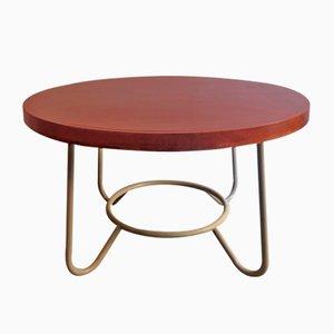 Großer Tisch aus Holz & Metall, 1950er