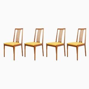 Deutsche Esszimmerstühle von Lübke, 1960er, 4er Set