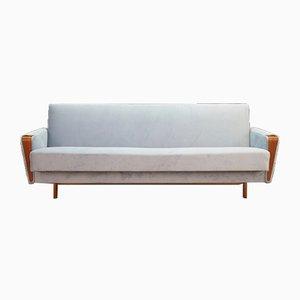 Hellblaues dänisches Mid-Century Sofa, 1970er